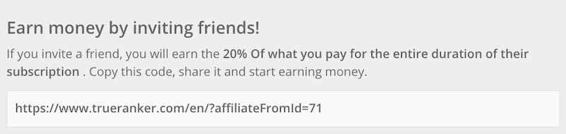 share affiliates link